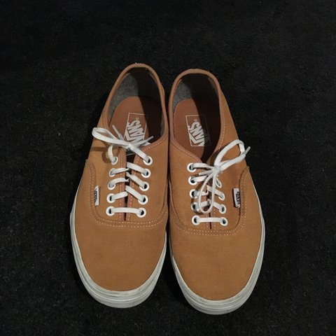 830f66540a Yellow mustard suede Vans. Very little wear as you can see - Depop
