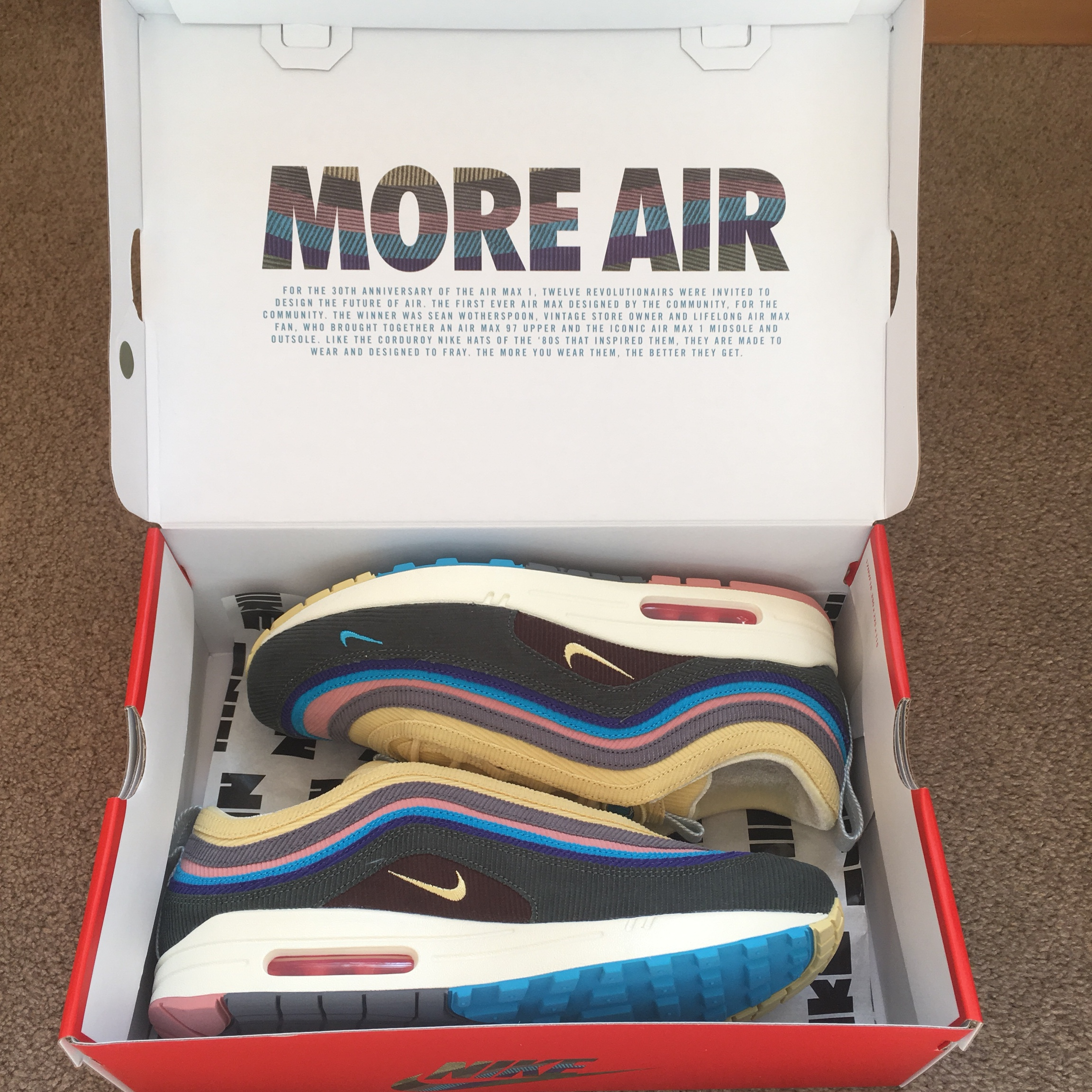 finest selection 60bb4 854ed —SOLD— dead stock Sean Wotherspoon x Nike Air Max ...