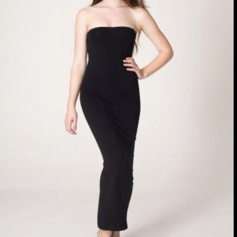 6241e3ce07 American apparel black tube top long dress tight goes up to - Depop