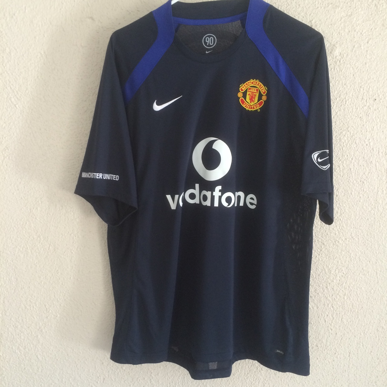 best service 725e9 7065a Total 90 Manchester United Jersey by Nike. Size... - Depop