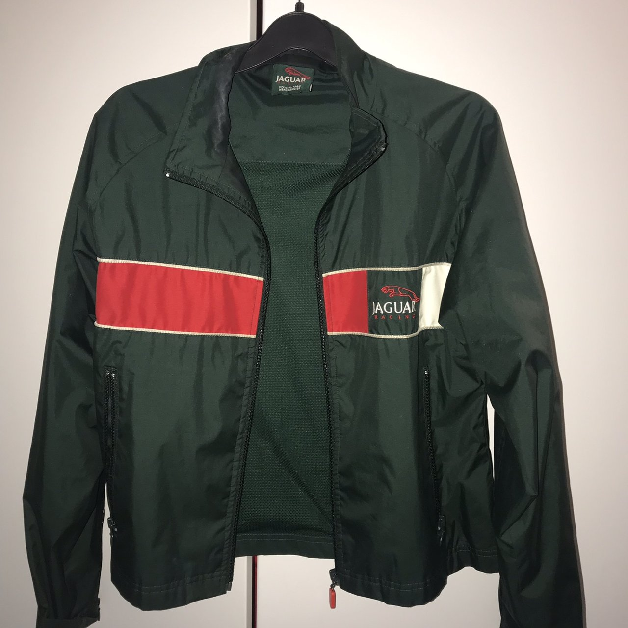 e48d17cf2899b9 Jaguar Racing vintage windbreaker jacket. Found in a vintage - Depop