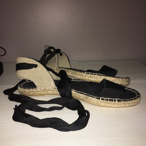 170ca06175c New look espadrilles style sandals with lace up feature. as - Depop