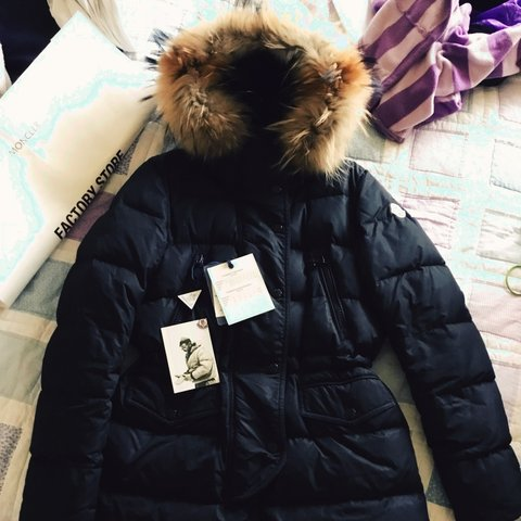 0ddc46f3a Moncler 'Fragon' Coat with Asiatic Raccoon Fur Hood Beat the - Depop