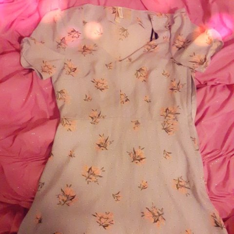 046406586c Angelic pastel blue floral dress from H&M is up for sale ! 6 - Depop