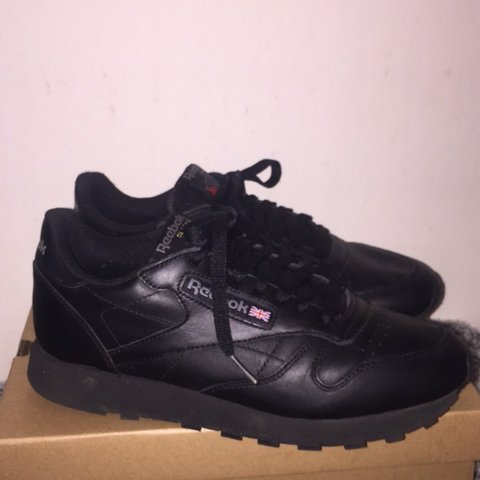 29e67e96251 Black classic Reebok trainers ~ So comfy and matches with ~ - Depop