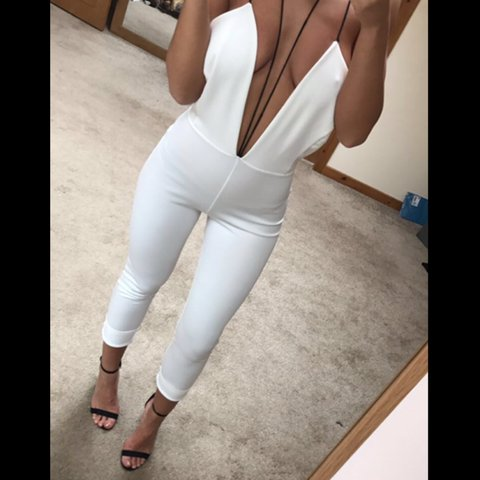 2803c492336a Pretty little thing PLT Size 8 white backless low cut I have - Depop
