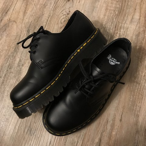 3a271236591525 On hold for @emilyyyun Dr. Martens 1461 Bex in smooth black. - Depop