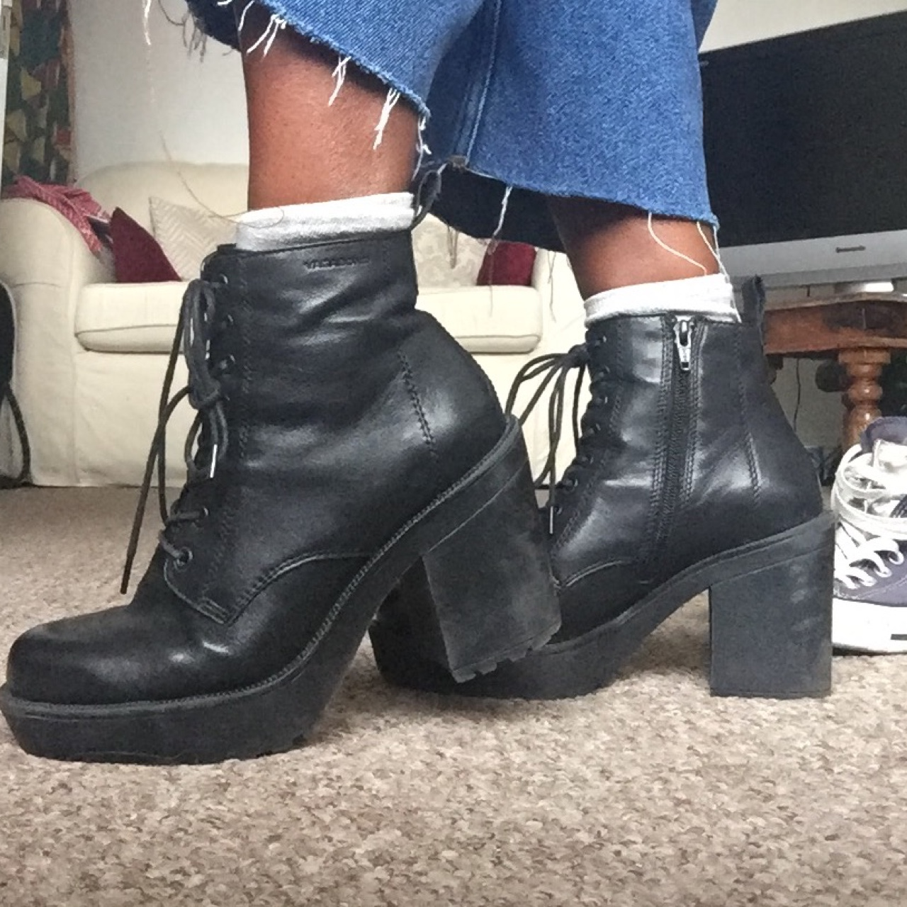 bcb9f8dcf94 Vagabond Libby Urban Outditters chunky lace up ankle... - Depop