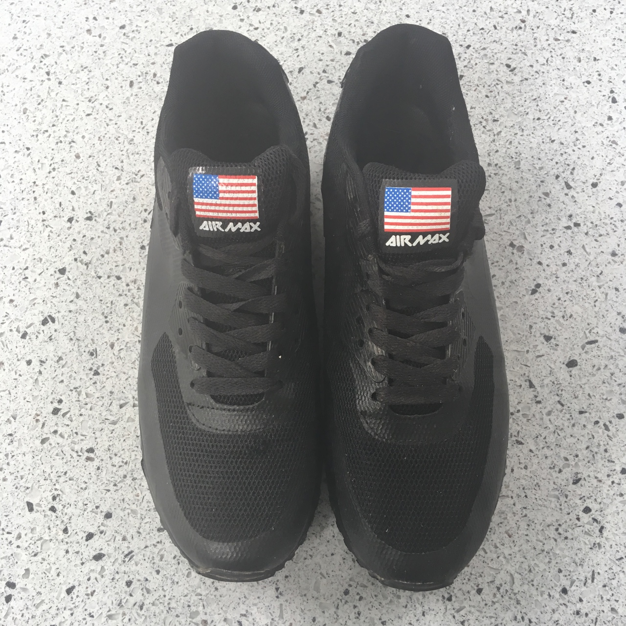 NIKE Air Max 90 Hyperfuse black Independence day. US