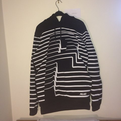 4d6fce10a144 Palace  P  striped striper hoodie in black size small. From - Depop