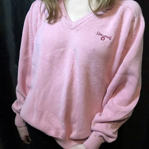 5e23a6a47c9 FREE SHIP✨ 🎀💖Vintage Baby Pink Spalding Sweater💖🏀 This - Depop