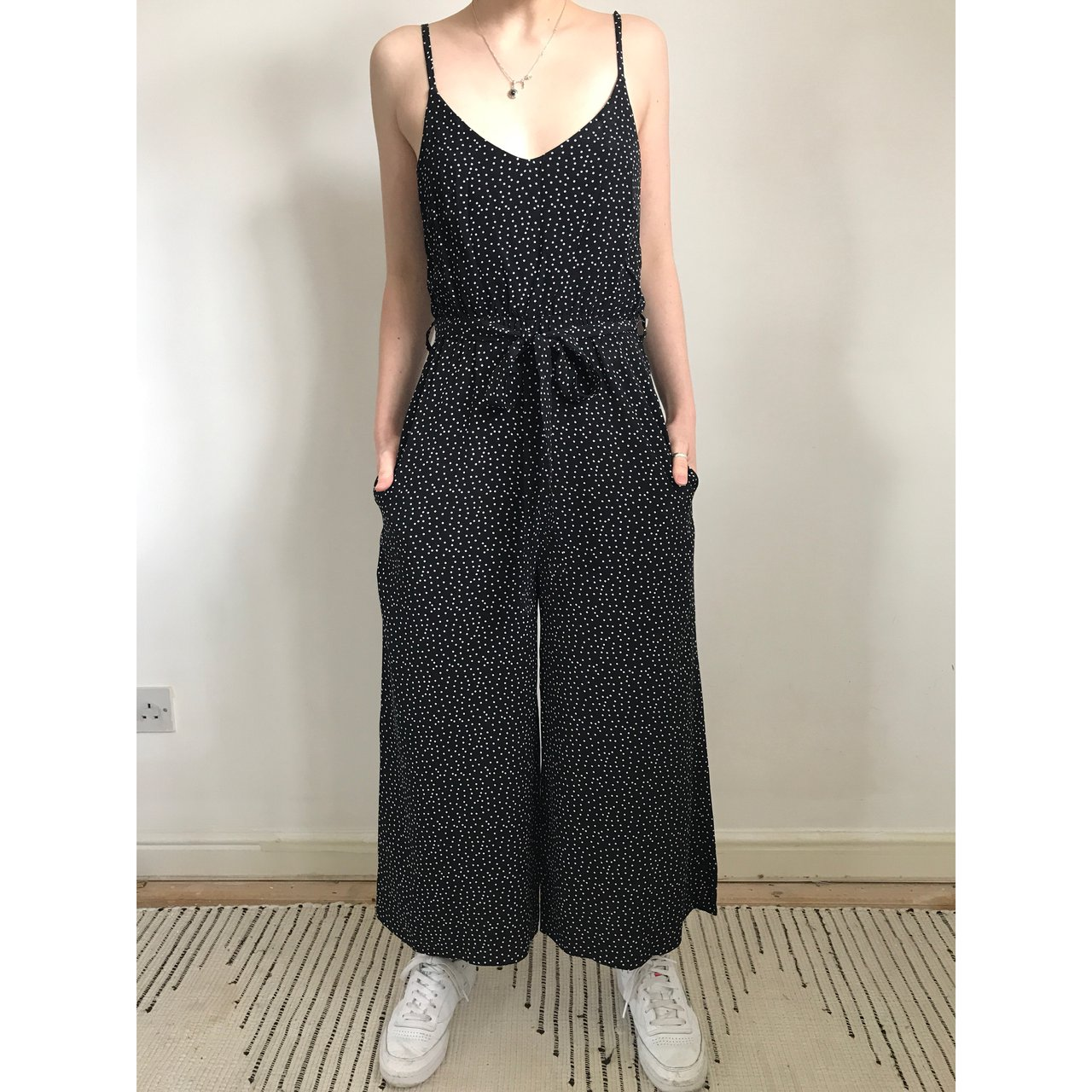 62d19a24ec NEWLOOK. Super cute spot Jumpsuit. Wide leg