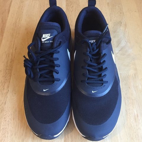 81968e208c91 Nike Airmax Thea Brigade Blue   White Trainers Shoes - Size - Depop
