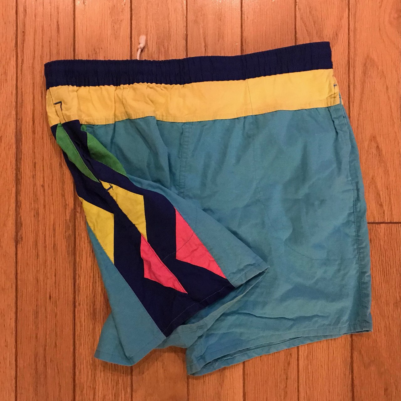 Vintage Swim Trunks Shorts Color Block size S. Great reat If - Depop 6c5ca6cb8
