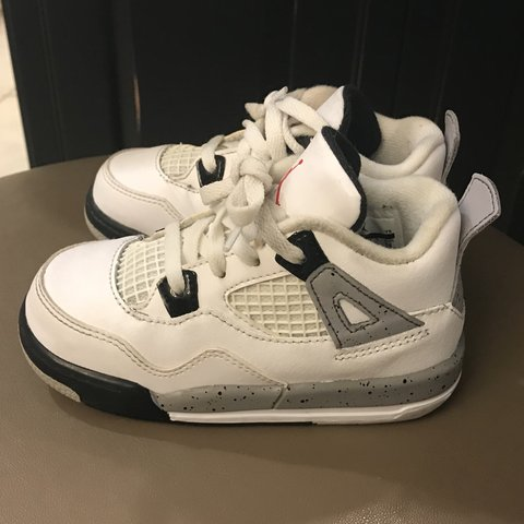77fb8f299181c4  td12345. 6 months ago. United States. Jordan Retros White Cement 4s size 8C.  Great condition!