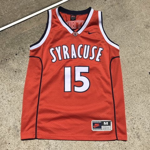 828f25dfc58 @td12345. 8 months ago. United States. Nike NCAA Syracuse University College  Carmelo Anthony Vintage Basketball Jersey ...