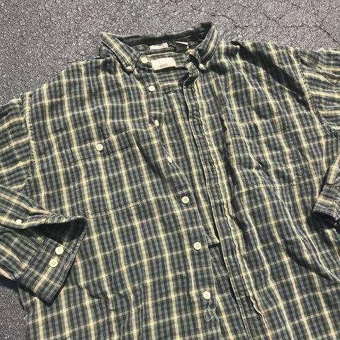 8a7db93368f Vintage Grunge Kurt Cobain Rock Metal Music Plaid Flannel If - Depop