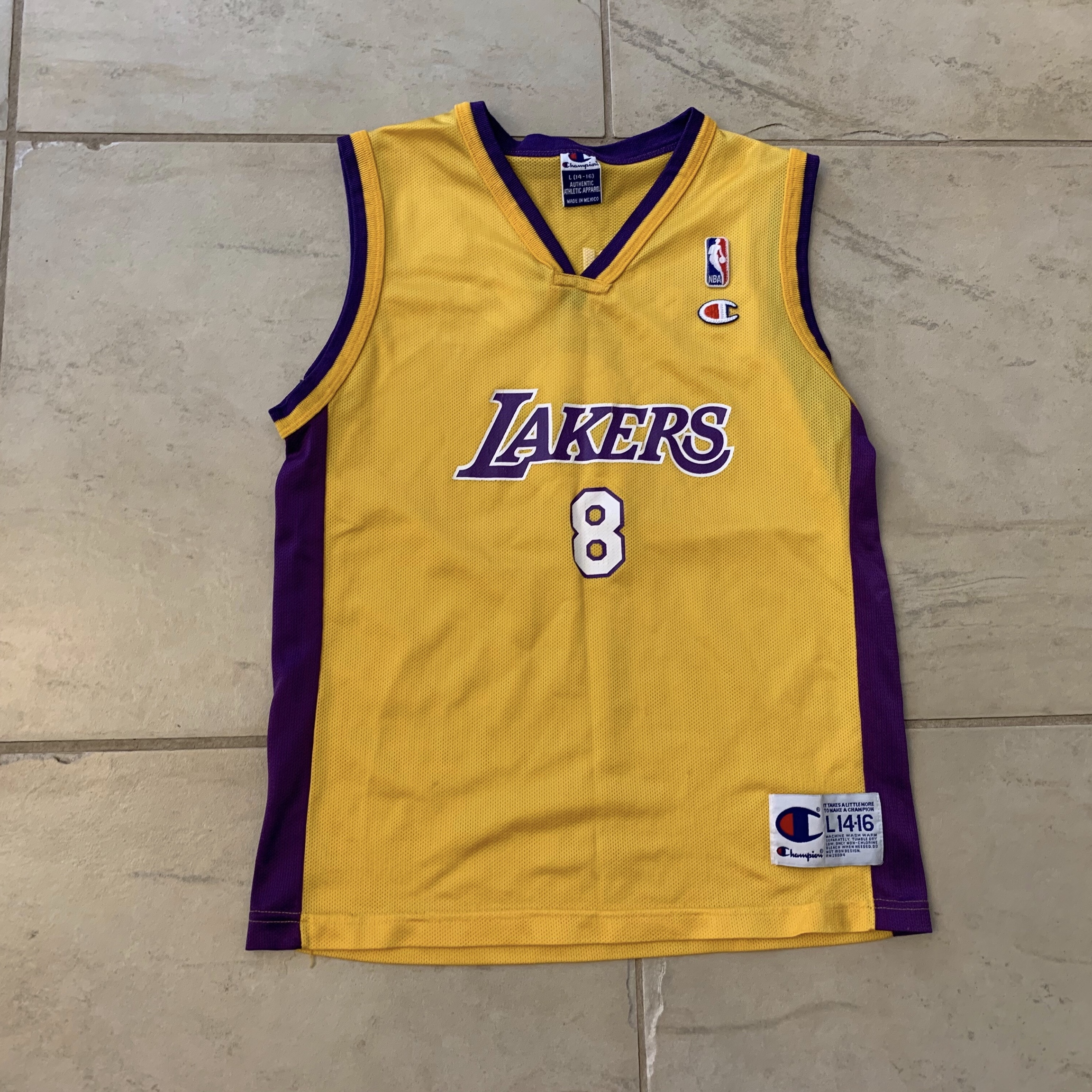 new arrival bc412 7a2ab Vintage Champion Number 8 Kobe Bryant Lakers Jersey ...