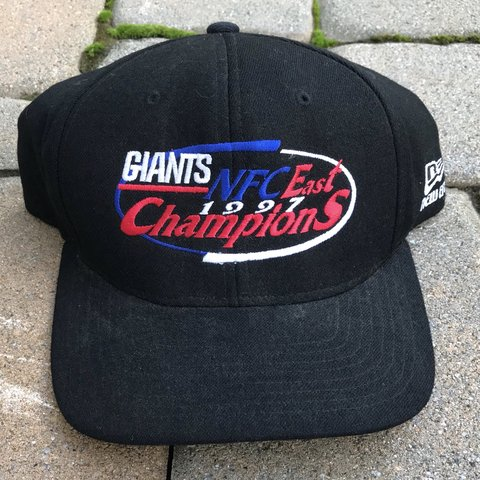 b8ed59092ba  td12345. in 7 hours. United States. Vintage 1997 NFL New York Giants  Football NFC Champions SnapBack Hat Cap.
