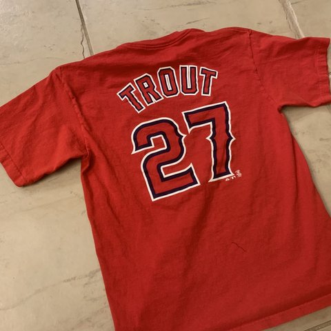 c55c4874863  td12345. 22 hours ago. United States. MLB Anaheim Angels Mike Trout Baseball  Jersey ...