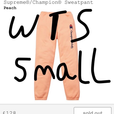 a4aa42a0 WTS Supreme Champion Sweatpant in peach size small - £200. : - Depop