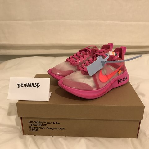 995a6474dae58 Nike x off white zoom fly tulip pink. Uk 6 DS. Nike off zoom - Depop