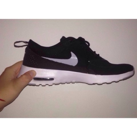 596e116c87 @theamac00. 3 years ago. West Molesey, UK. Black and white Nike Thea's //  RRP £90 // worn twice // UK 4 ...