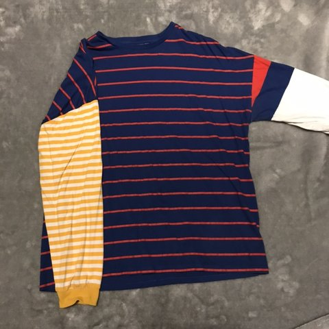 b1d892d48c @katherine212. 5 months ago. Nottingham, United Kingdom. ASOS BLUE RED  YELLOW WHITE STRIPED T-SHIRT size large men's