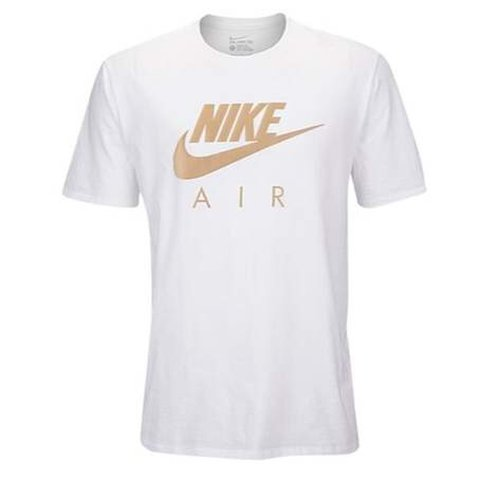 4a6ae3bf7c4c Nike air white t-shirt   gold print New without tags Never - Depop