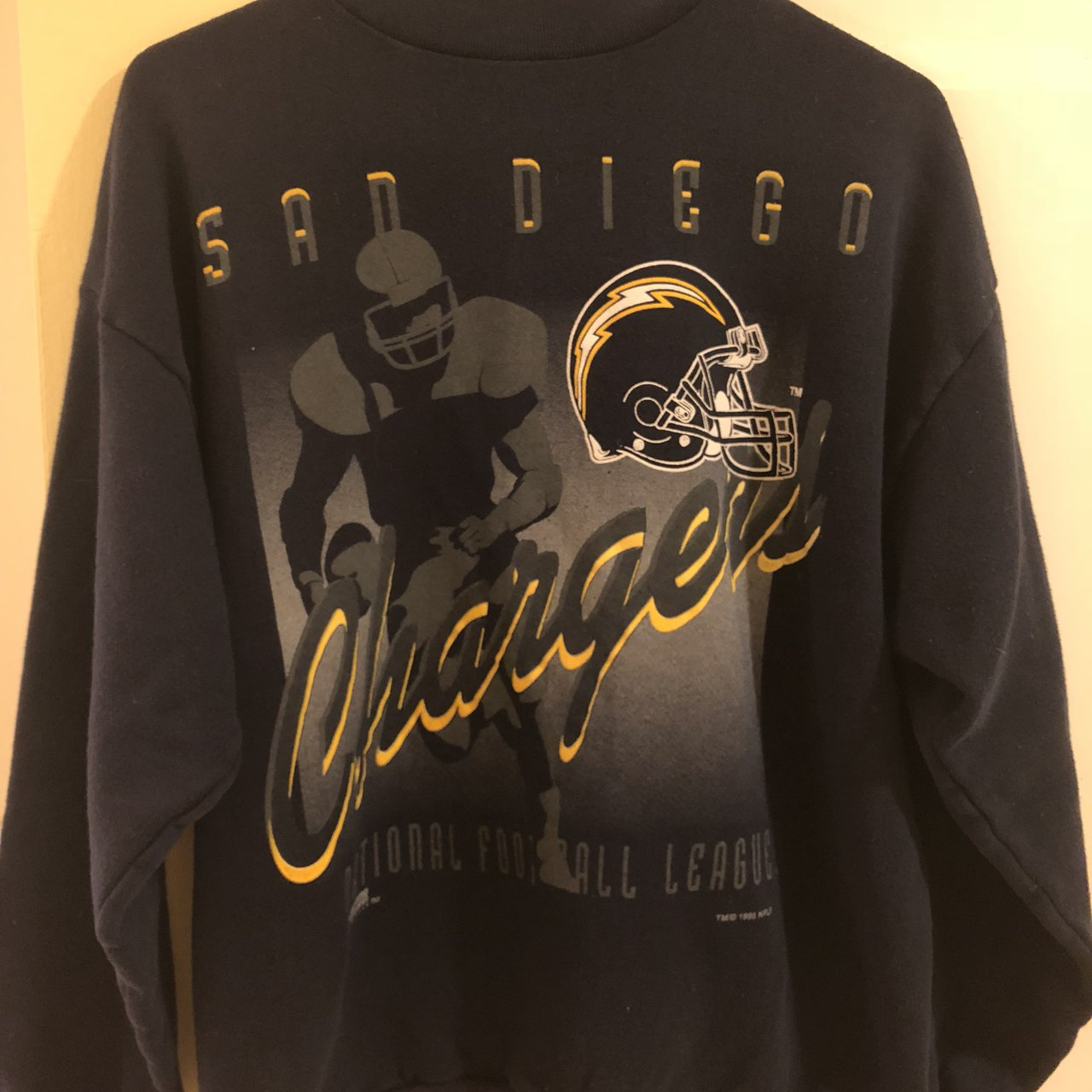 Vintage Chargers Football Sweater. ce15df503