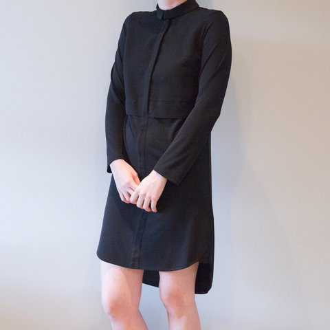 21f2624dce9c @cameliamanea. 3 months ago. New York, United States. LOWERED PRICE!! Topshop  long sleeve black shirt dress. brand ...