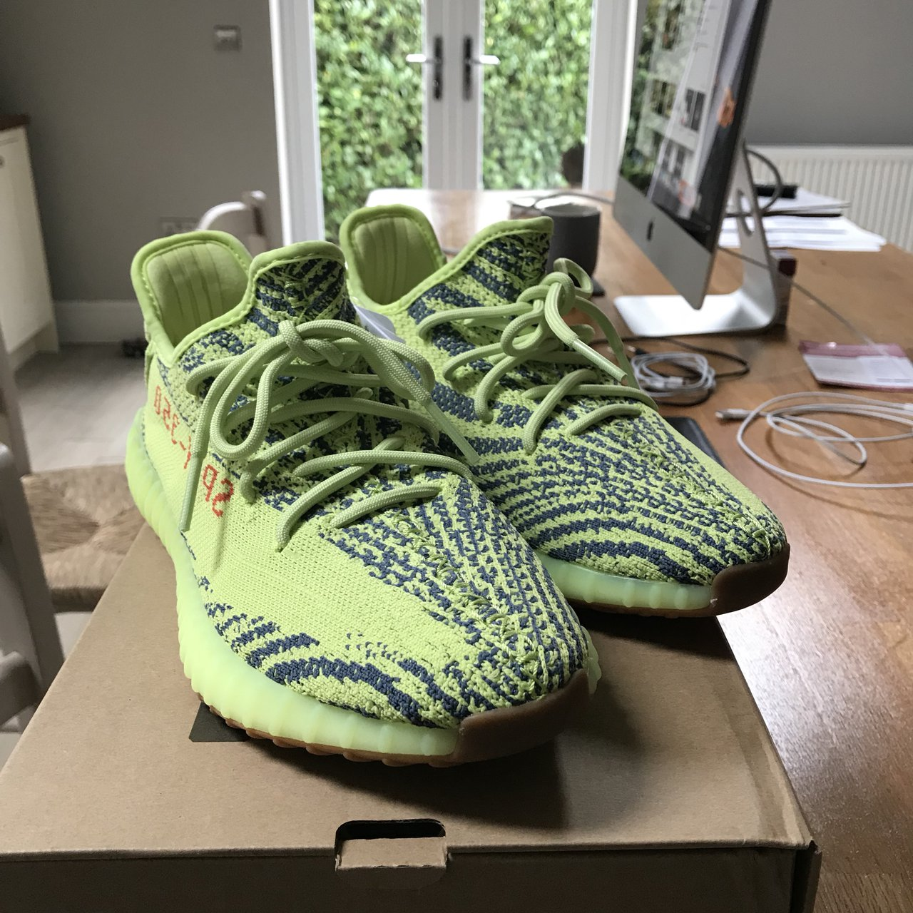 86077d220 Confirmed Adidas Yeezy boost 350 V2 semi frozen yellow RARE - Depop