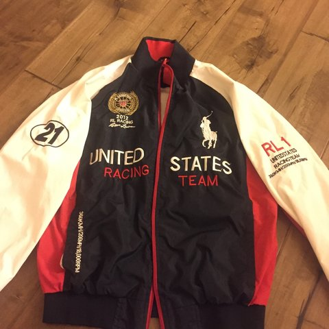 50ee4d9e @sramirez. 3 years ago. Riverside, CA, USA. polo ralph lauren united states  racing team jacket in large. ...