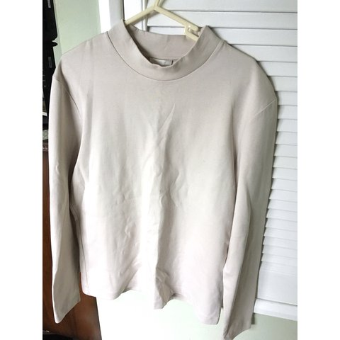 1df23c33212d Men's high neck cream thick top/ sweater from cos. Perfect - Depop
