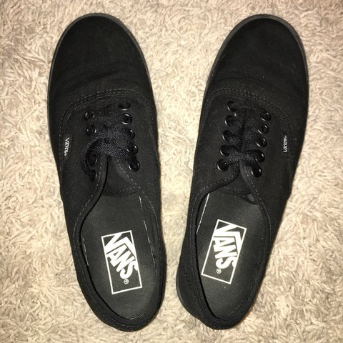 7de05c2cee7 Authentic  BLACK VANS  men s US size 6.5 - women s US size 8 - Depop
