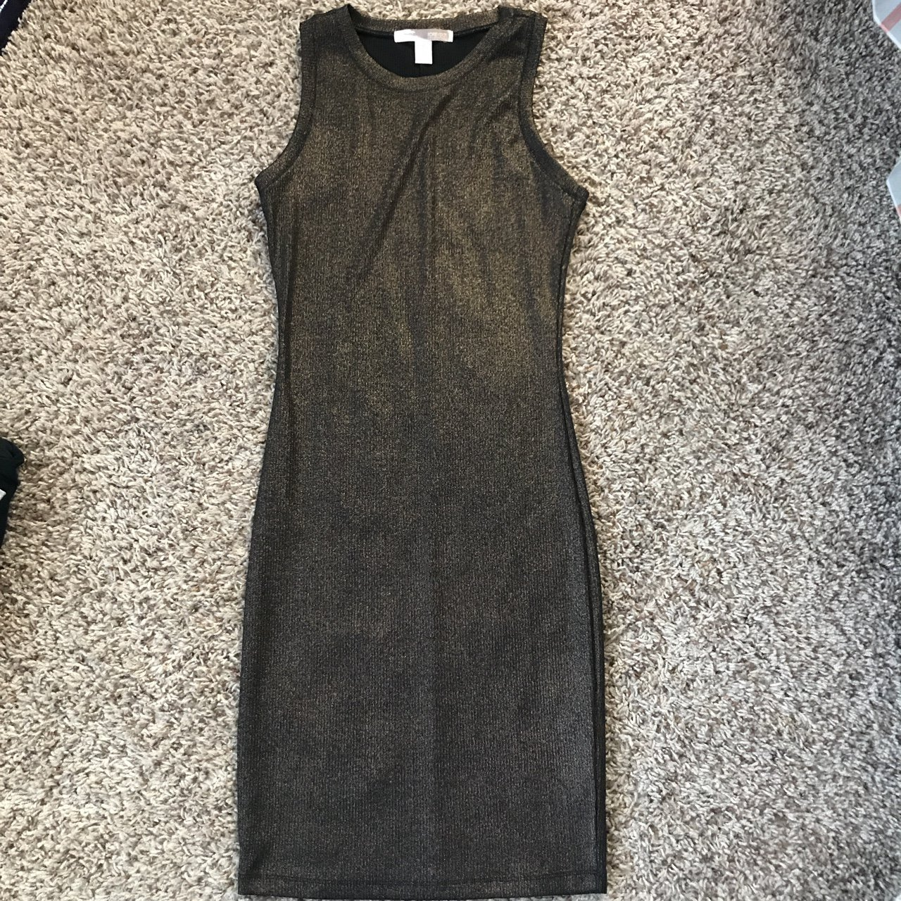 8b8921ce9545 @nailsalwaysdid. 11 months ago. San Jose, United States. Forever 21 mid  length dress. Worn once. Metallic gold/black
