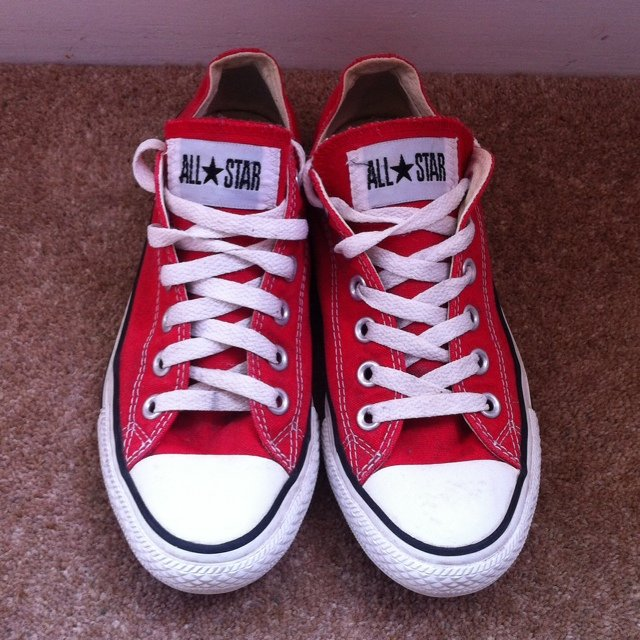 Red Low Top Converse   UK Size 5   Good but not new   Price - Depop 21f211f81