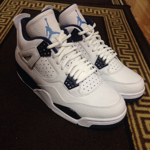 d5b3f17fa487 ... canada nike air jordan 4 retro columbia white legend blue uk depop  bf32e bed58