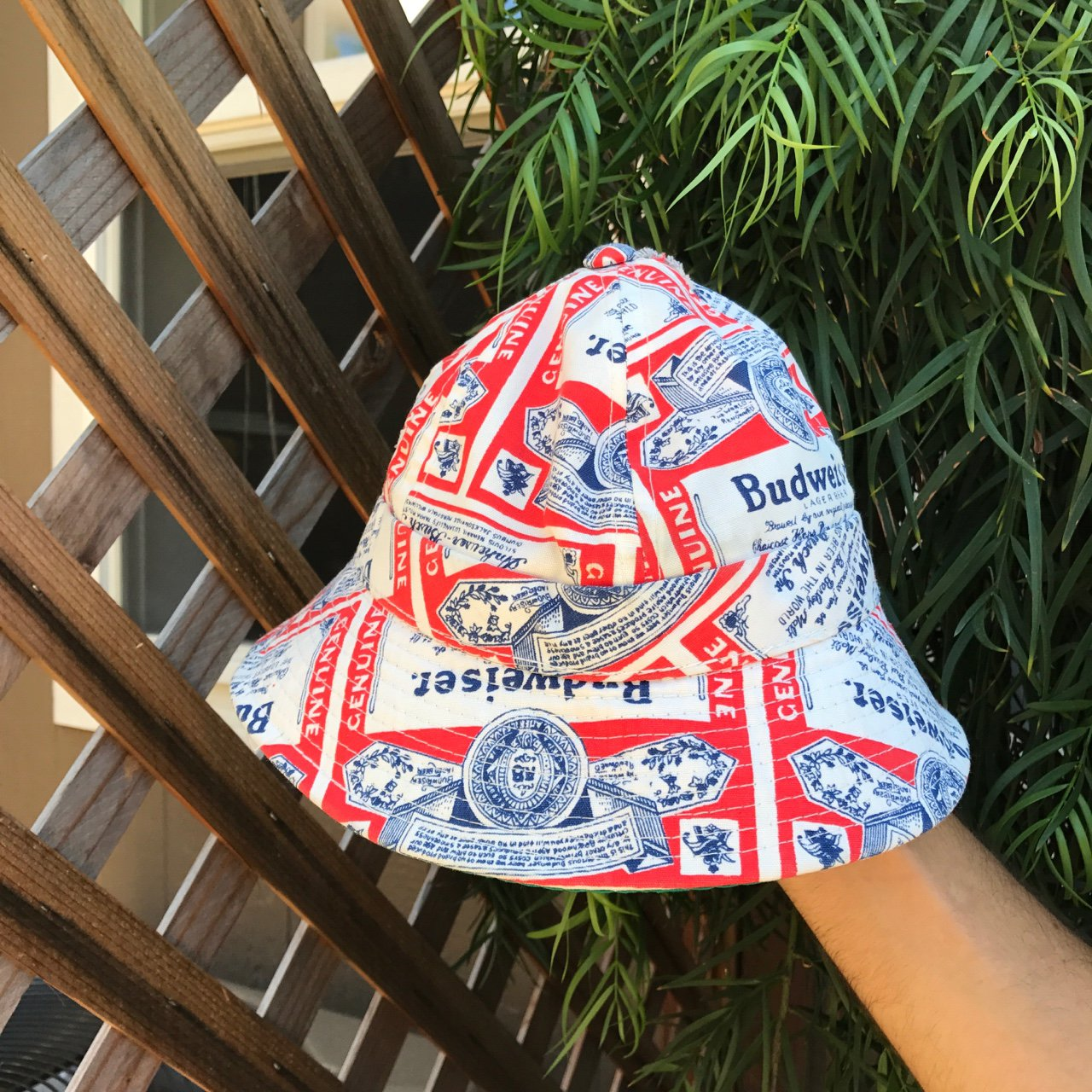 Vintage Budweiser Bucket Hat. Has some good old fashioned to - Depop 49ceae63ce6