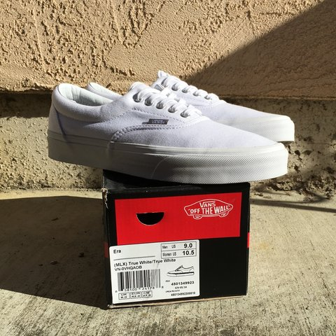ed7591cdc9 Brand new Vans Era MLX True White. Worn only left shoe to 9 - Depop