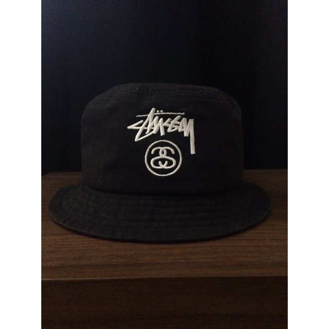 6e1816d85c5 Stussy Stock Lock Black Bucket Hat for sale £30 meet up only - Depop