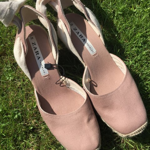 6340869ca Zara espadrilles- worn once. Canvas and rope. 2.5