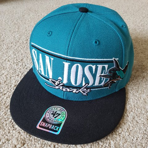 7963985ee0a85f @thepuckstop. 2 years ago. Coventry, UK. San Jose Sharks Snapback. NHL Ice  Hockey Cap Hat. 47 Brand. Great Condition