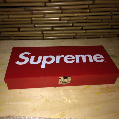 Supreme Large Metal Storage Box From Ss17.   Depop