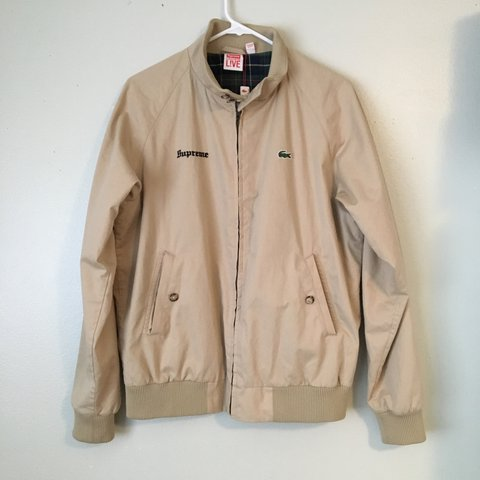 online retailer 21a8b 7a0f2 Supreme Lacoste Harrington jacket. Authentic. Worn. No - Depop