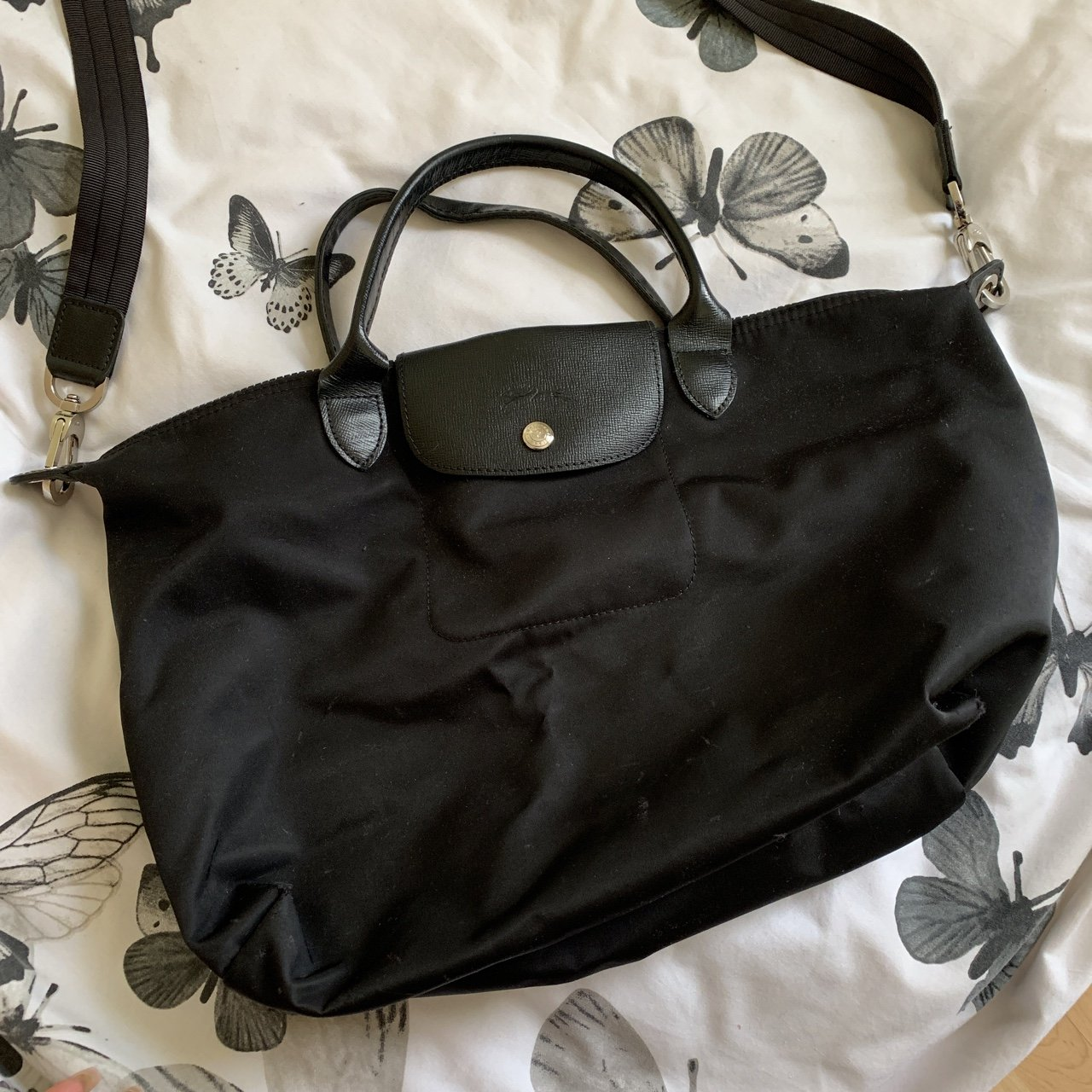 Longchamp Le Pilage Neo bag in size Medium. Comes with a Has - Depop c74a79679f0f3