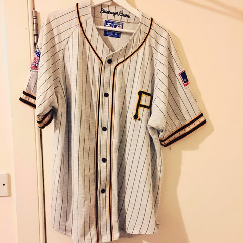 5695cd58f Old school Pittsburg Pirates baseball jersey size XL also L - Depop