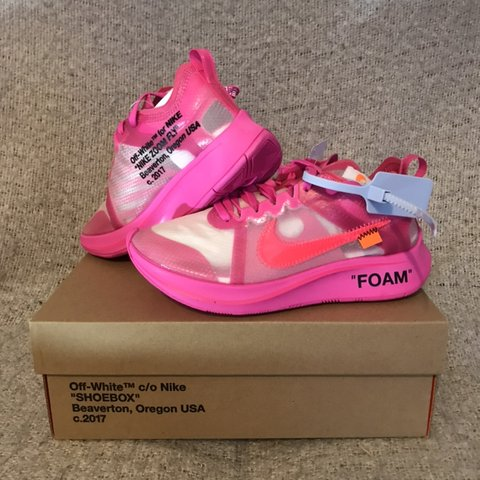 db226b6e2487a Nike x Off White Zoom Fly Pink (Tulip) Brand New