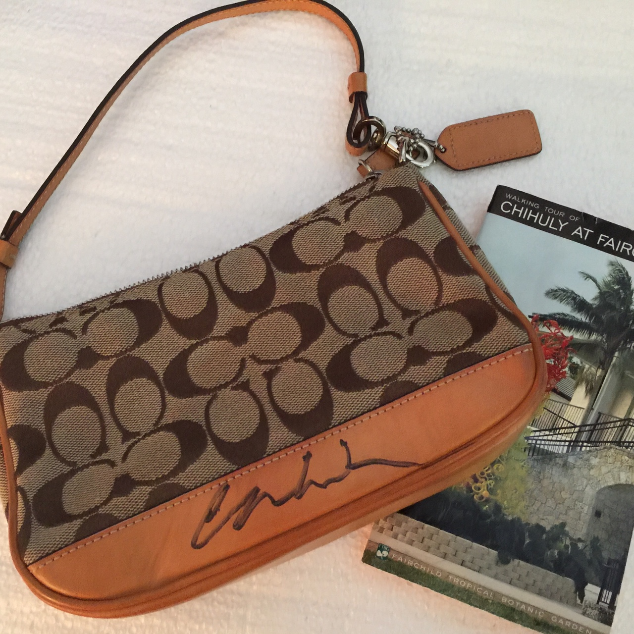 Autographed Dale Chihuly coach purse(pochette).One...