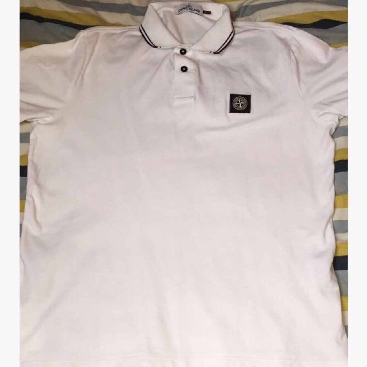 7cdefdba Stone Island Slim Fit Polo T Shirt White – EDGE Engineering and ...